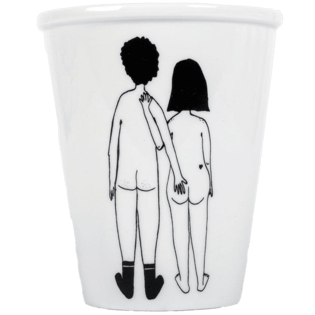 "Tasse ""Naked couple back"""