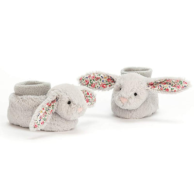 JELLYCAT - Chaussons lapin liberty gris