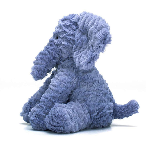 JELLYCAT - Doudou éléphant bleu Fuddlewuddle - Side