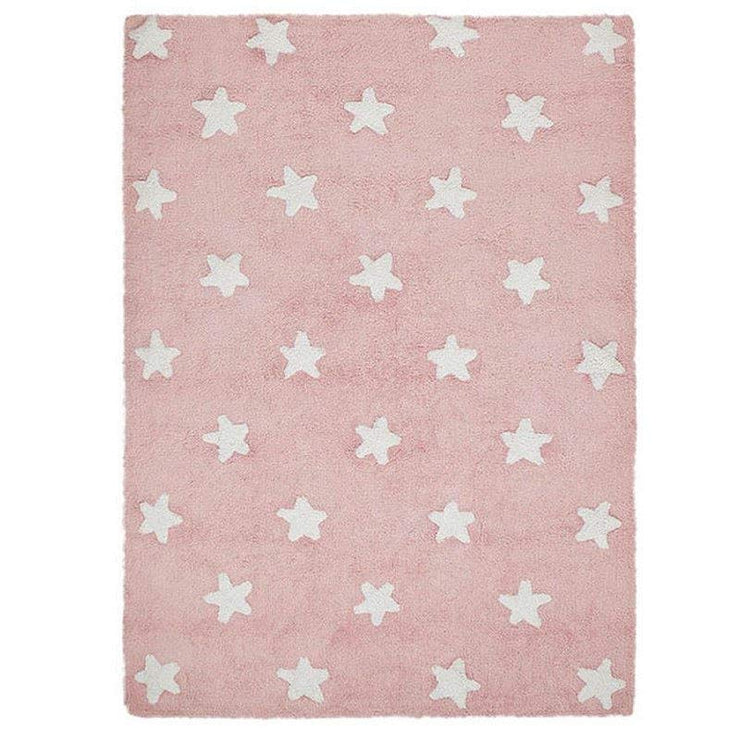 Tapis rose - Etoiles blanches - Lorena Canals