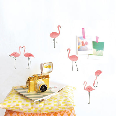 Mimilou - Sticker pour enfant Just a touch - flamants rose - déco colorée et amusante