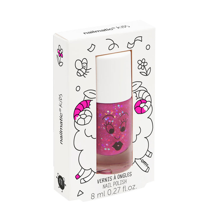 NAILMATIC KIDS - Vernis enfant Sheepy framboise pailleté