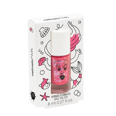 NAILMATIC KIDS - Vernis enfant Sissi rose paillettes - Vernis à base d'eau