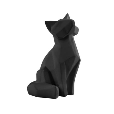 PRESENT TIME - statue origami renard - noir small