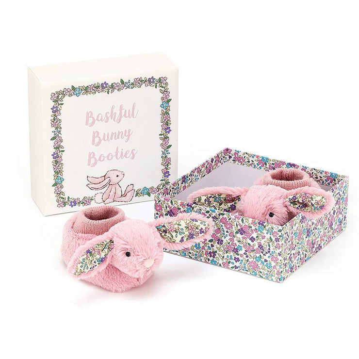 JELLYCAT - Chaussons Blossom Bunny rose - Naissance