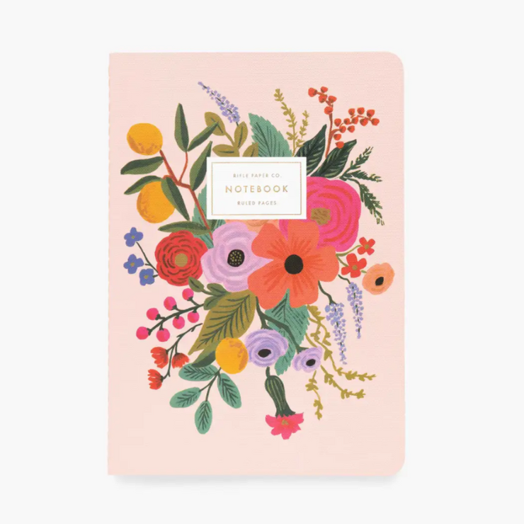 RIFLE PAPER CO - set de 3 carnets - Garden party