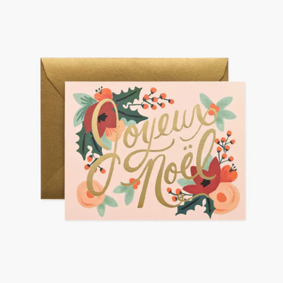 RIFLE PAPER CO - Carte de Noël - Joyeux Noël