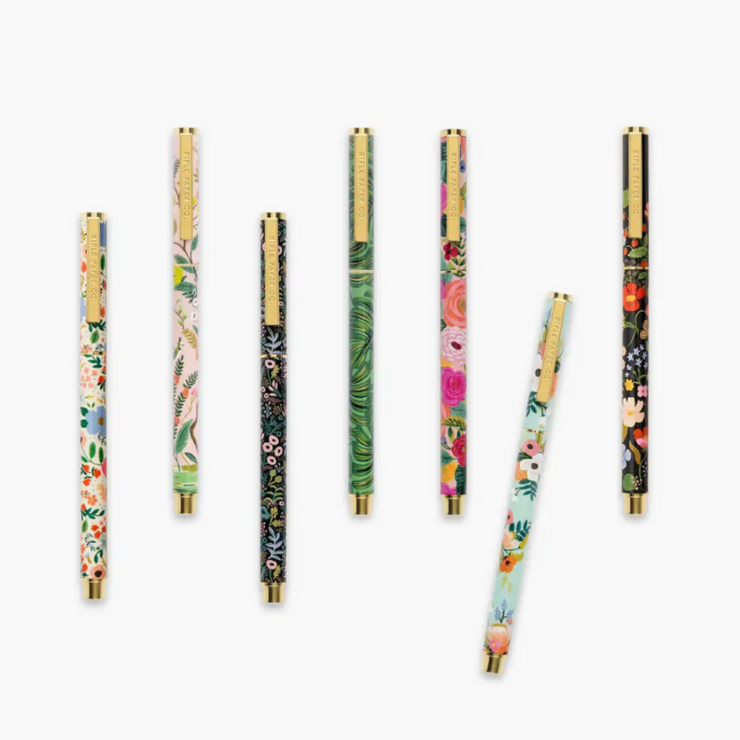 RIFLE PAPER CO - Stylo rechargeable - strawberry fields