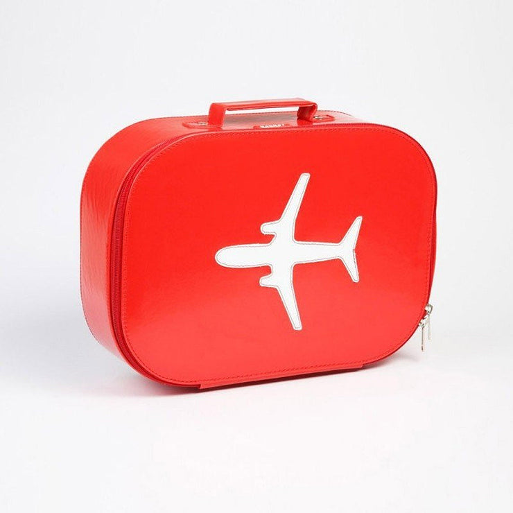 Valise Avion Vinyl - Rouge