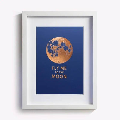 affiche bleu fly me to the moon les editions du paon