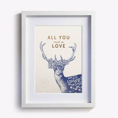 affiche all you need is love les editions du paon
