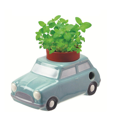 Pot auto-irrigant pour plantes en forme de voiture bleue- Noted