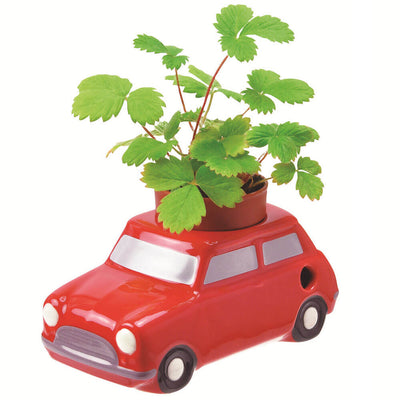 Pot auto-irrigant pour plantes en forme e voiture rouge - Noted
