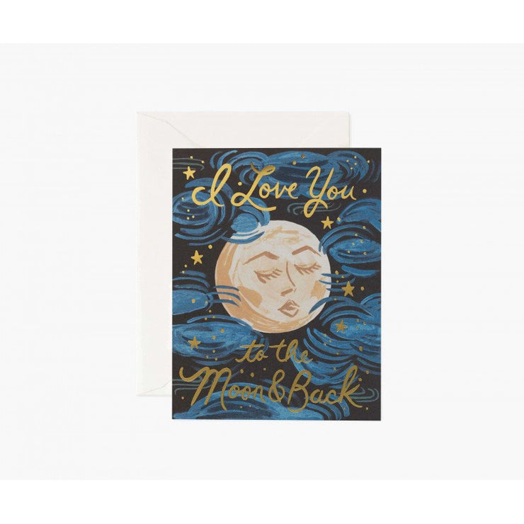 Carte de voeux - To the moon and back