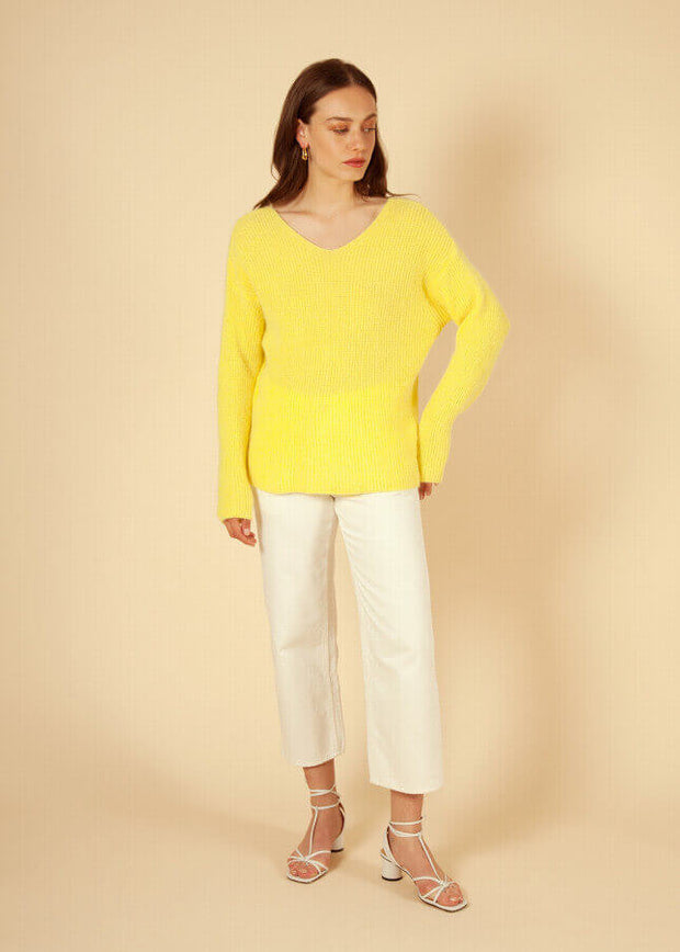 FRNCH - Pull jaune Nickie