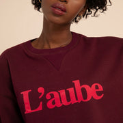 FRNCH - Sweat Nassika en coton bordeaux
