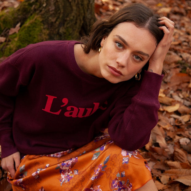 "FRNCH - Sweat bordeaux - ""L'aube"""