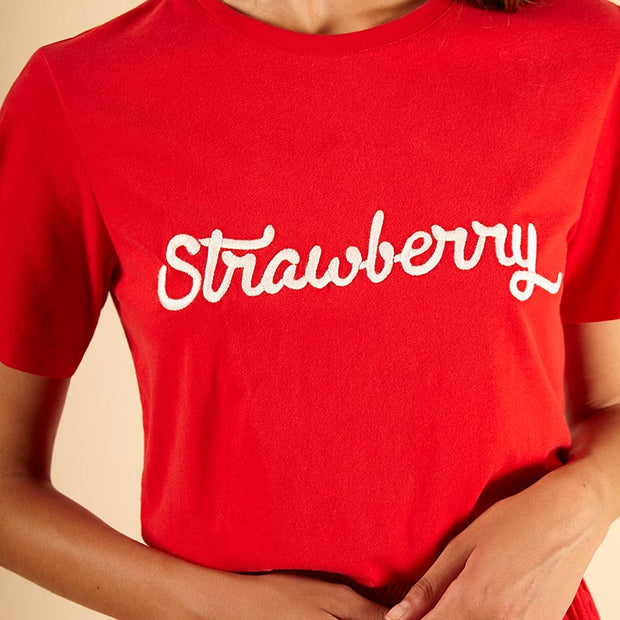 FRNCH - Tshirt rouge Strawberry - Close up