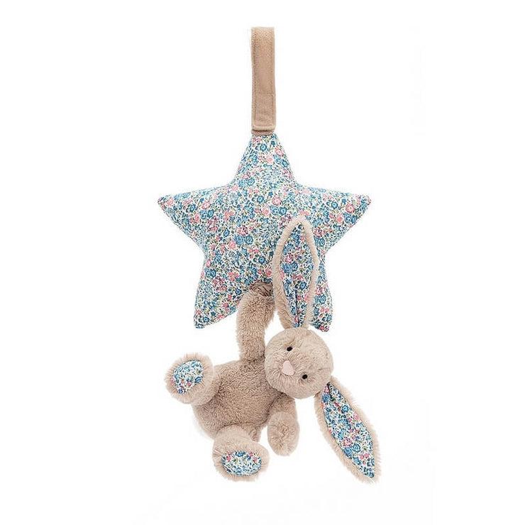 JELLYCAT - Doudou musical lapin Blossom beige