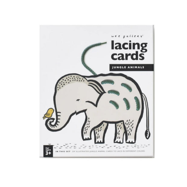 WEE GALERY - Jungle animals - lacing cards - éveil enfant