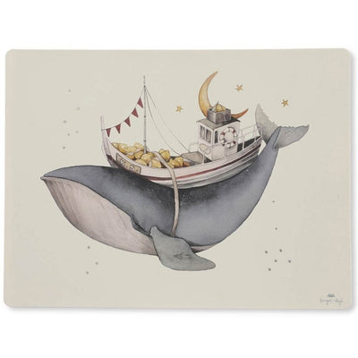 KONGES SLOJD - Set de table enfant en silicone - Baleine