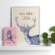 les editions du paon affiche all you need is love biche