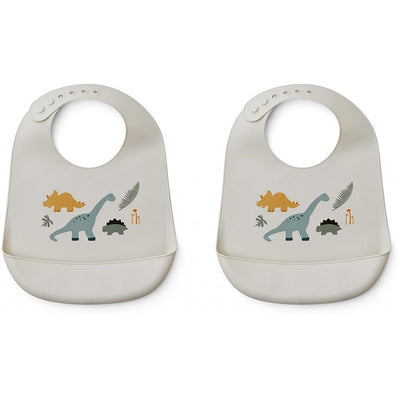 Bavoirs silicone dinosaures - Liewood