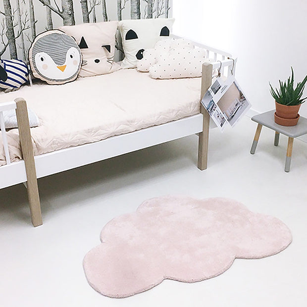 lilipinso tapis enfant nuage rose clair