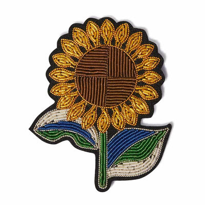 Broche brodée Tournesol - Macon & Lesquoy