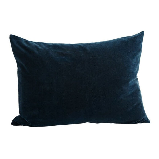 Housse de coussin en velours bleu canard - Rectangle