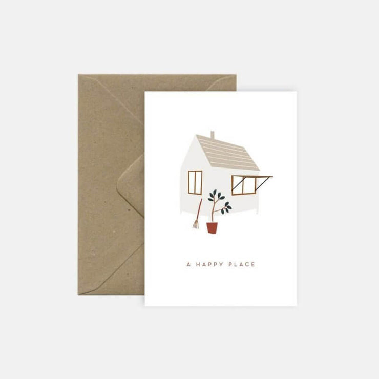 "Carte de voeux ""A Happy Place"" Michoucas Design"