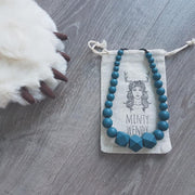 MINTY WENDY - Collier d'allaitement en silicone alimentaire bleu - Peacock