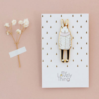 MY LOVELY THING - Pin's Joséphine en métal - Broche originale