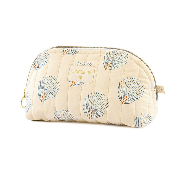 Trousse de toilette en coton bio Holiday - Blue Gatsby/Cream