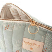 Trousse Holiday Nobodinoz en coton bio - White Gatsby/Antique Green
