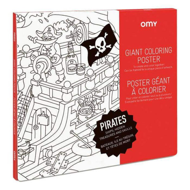 OMY DESIGN & PLAY - Coloriage géant pirates