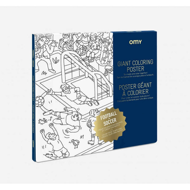 OMY DESIGN & PLAY - Coloriage géant football