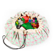 Sac à jouets Play&Go flamants roses