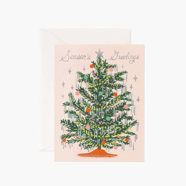 RIFLE PAPER CO - jolie carte de Noël - Tinsel tree