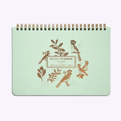 weekly planner semainier à spirale slow life les editions du paon