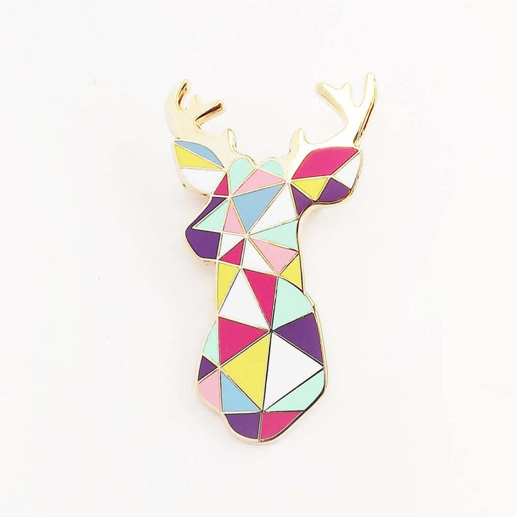 Broche en métal cerf multicolore - Sketch Inc