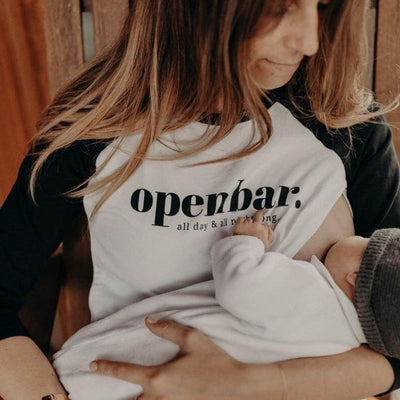 "T-shirt d'allaitement ""Open Bar"""