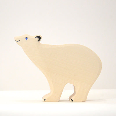Figurine en Bois - Grand Ours Polaire