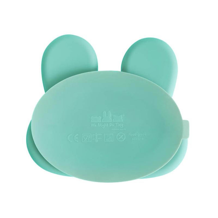 WE MIGHT BE TINY - Assiette en silicone lapin mint - Ventouse