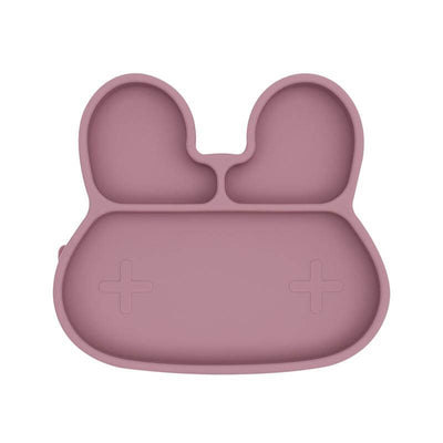WE MIGHT BE TINY - Assiette lapin rose en silicone