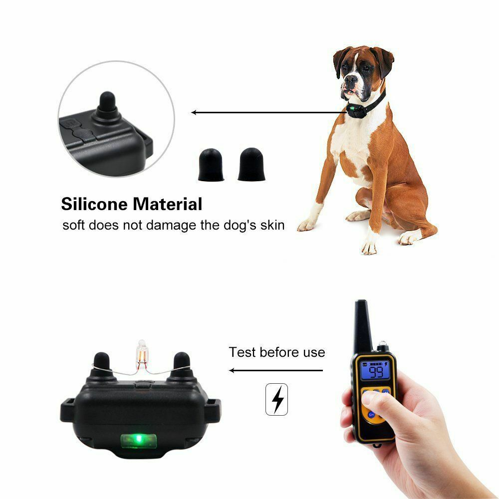 Dog Shock Electric Collar's Soft silicone material does not damage the skin