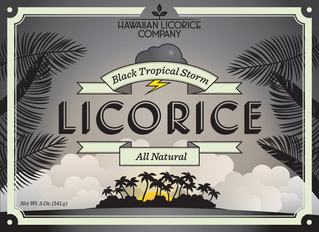 All Natural Black Tropical Storm Licorice