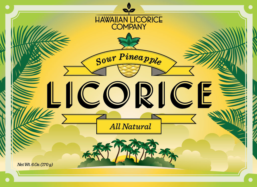 All Natural Sour Pineapple Licorice