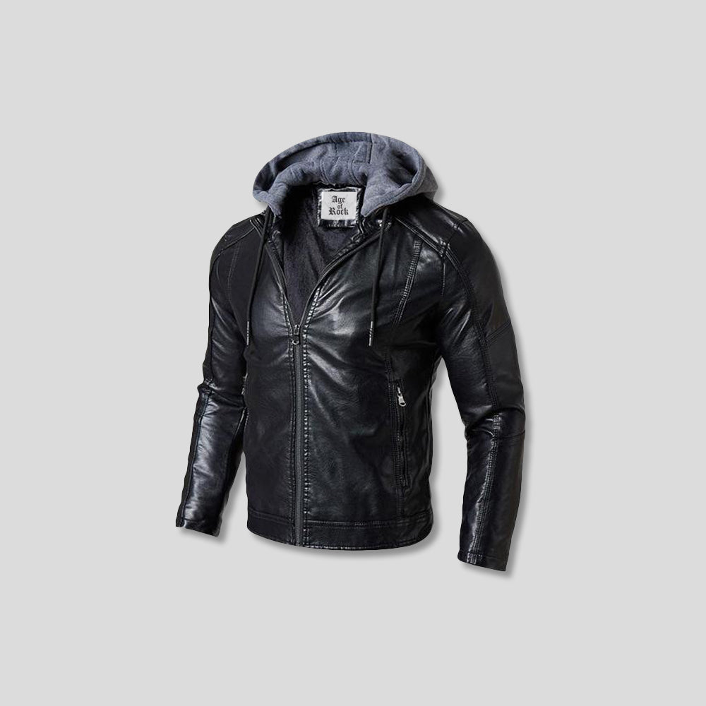 LENNON FLEECE LEATHER JACKET