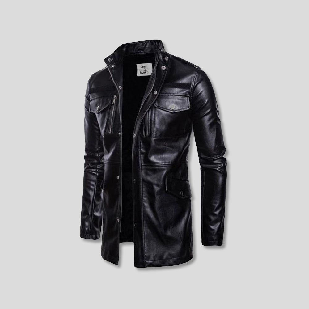 THUNDERS LEATHER COAT